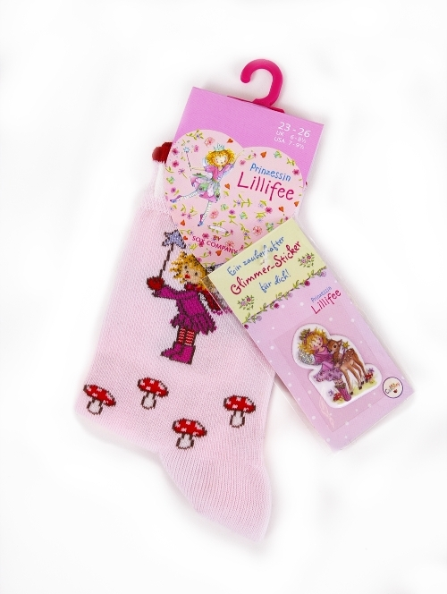 Prinzessin Lillifee Kindersocken plus Sticker