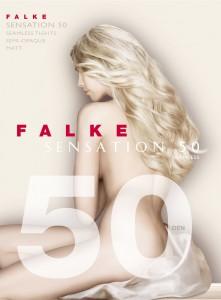 """Die """"Sensation 50"""" Strumpfhose von Falke trägt ihren Namen zurecht: sie ist komplett nahtlos gefertigt, abgesehen von den flachgenähten Spitzen! Somit hat sie auch keinen Zwickel."""