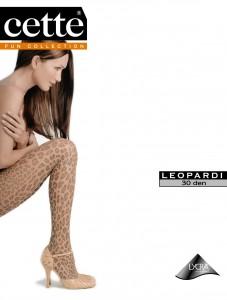 """""""Leopardi"""" ist eine Strumpfhose von wunderschöner seidenmatter Semitransparenz. Die Beine schmückt ein trendig attraktiver Leoprint. Superbequem, da auch mit Komfortbund im einfarbigem, unverstärktem Höschenteil."""