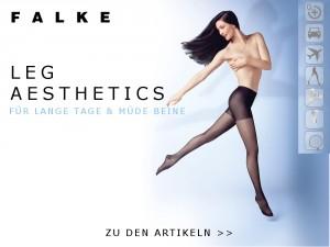 Die Leg Aesthetics von FALKE bestehen aus den Serien Leg Vitalizer, Energizer und Shape